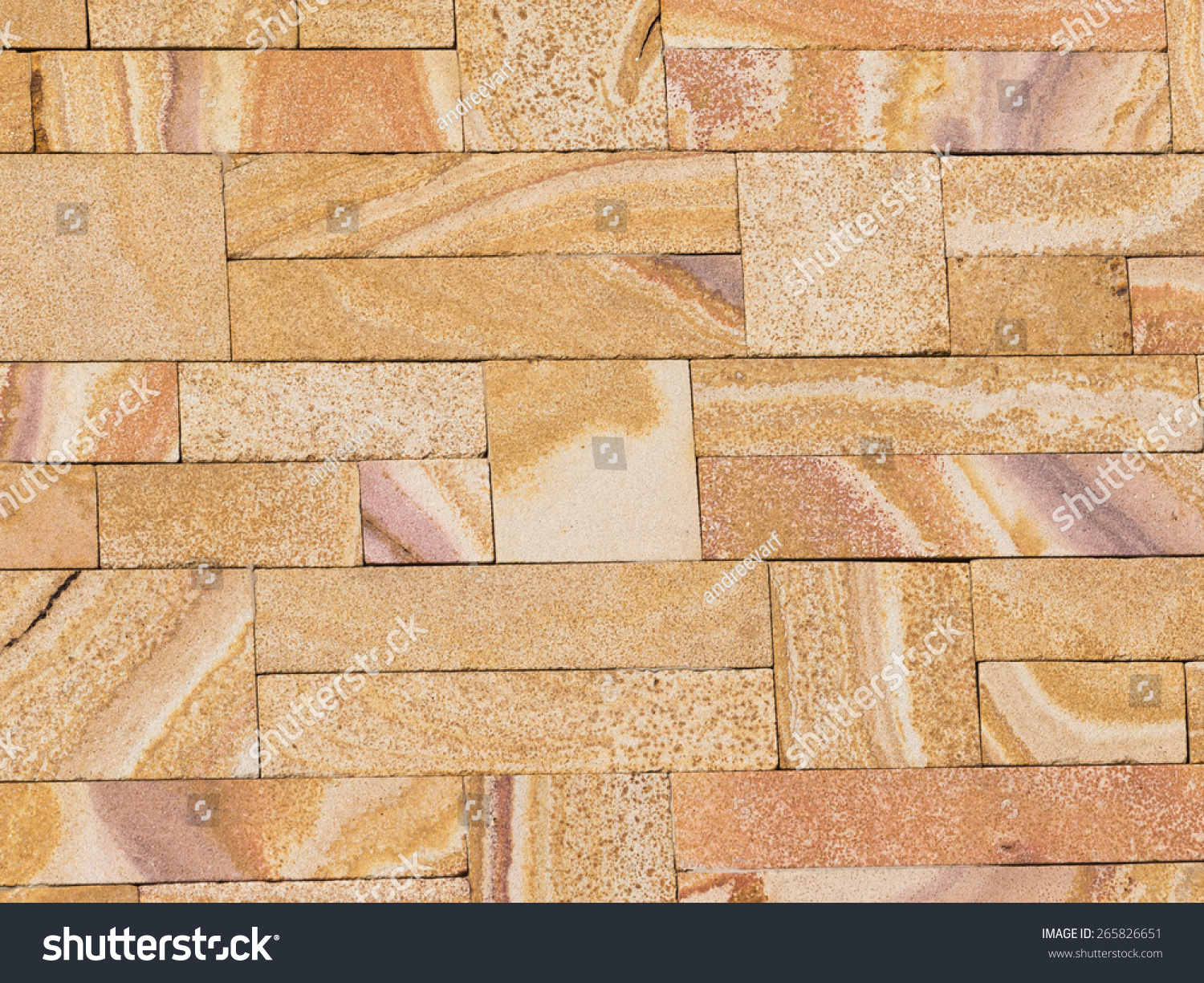 decorative wall decorated with natural beige stone with beautiful ...