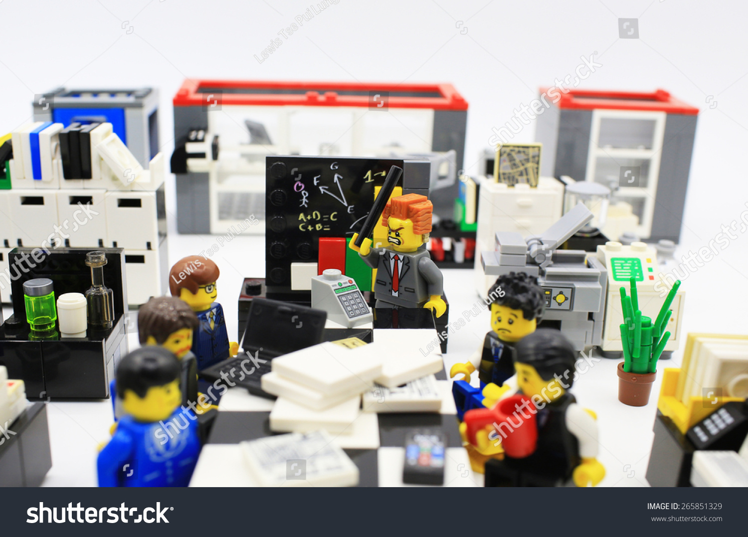 HONG KONG,MARCH 22: Studio Shot Of Lego People In Office, Combine From