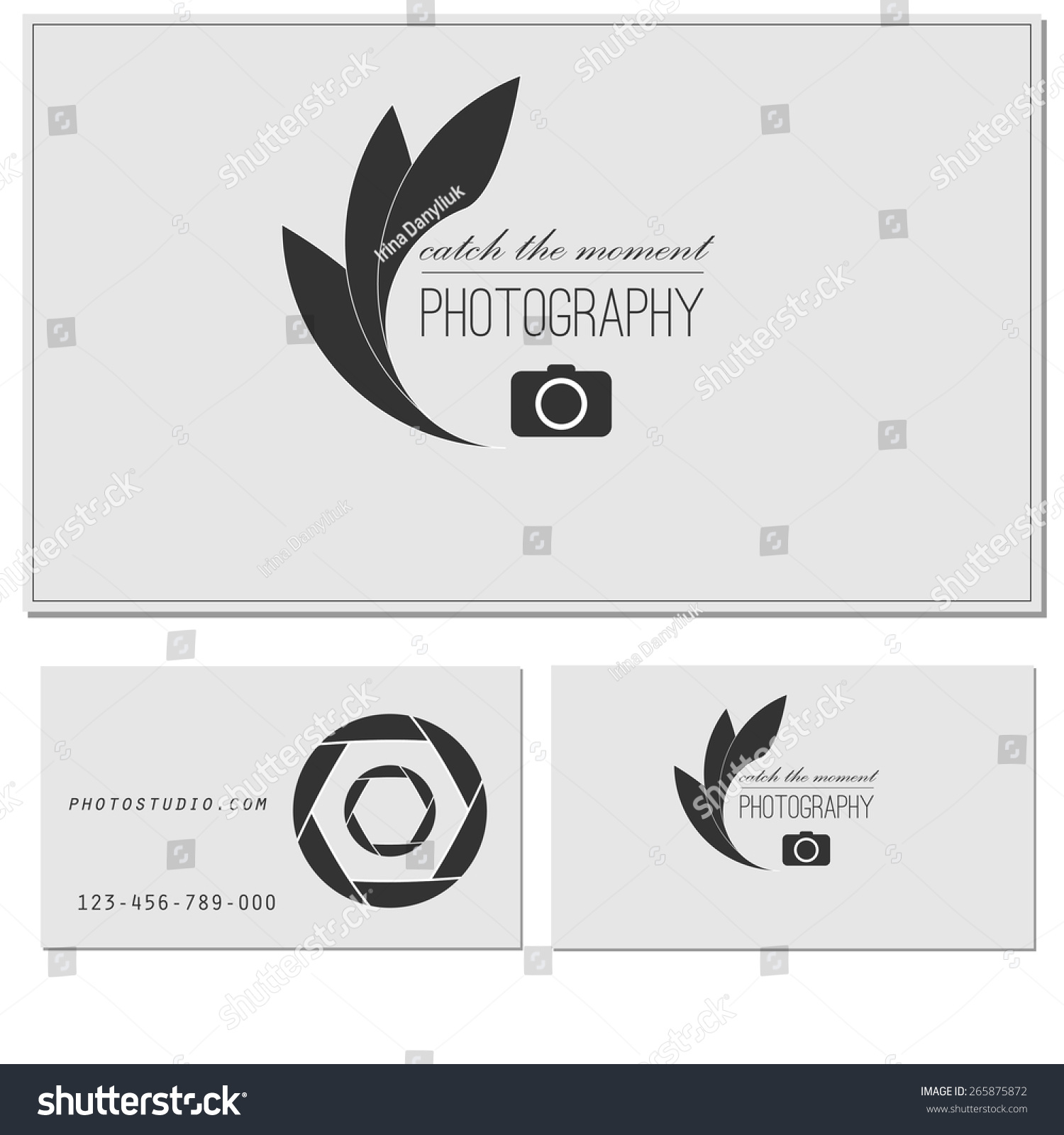 Photo studio logo business card template stock vector royalty free photo studio logo and business card template vector photography logo templates photo cam logotype accmission Choice Image