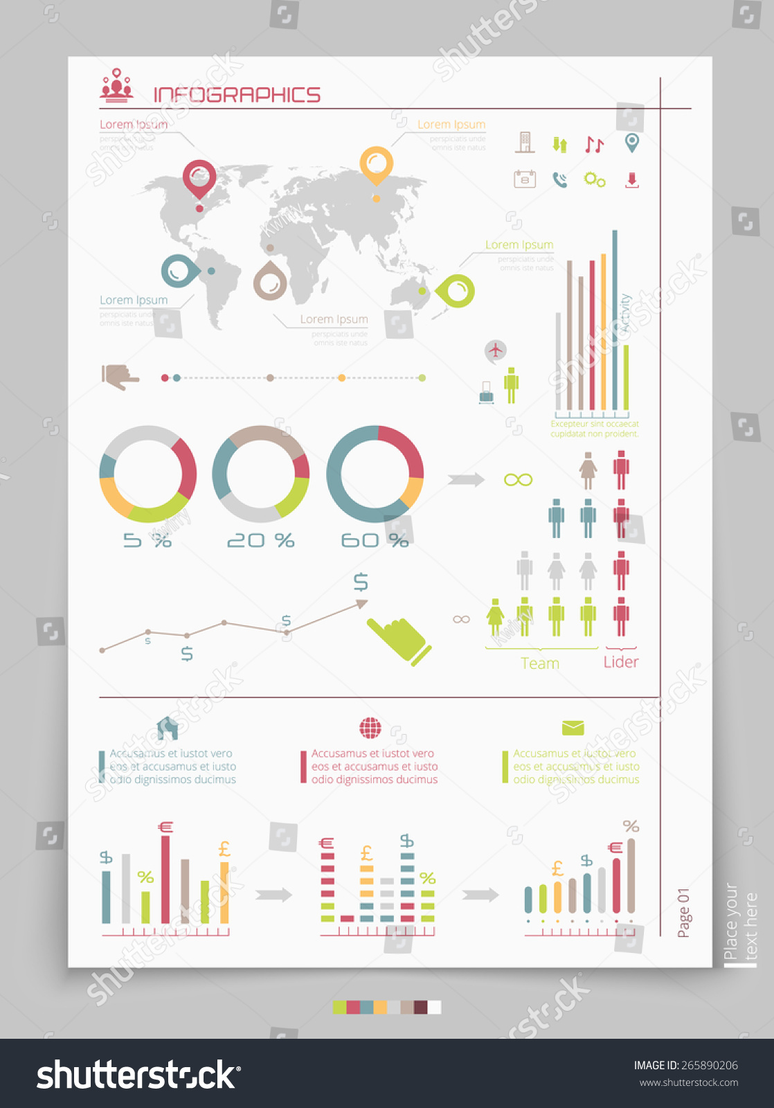 Vector Business Brochure Template Infographic Elements ...