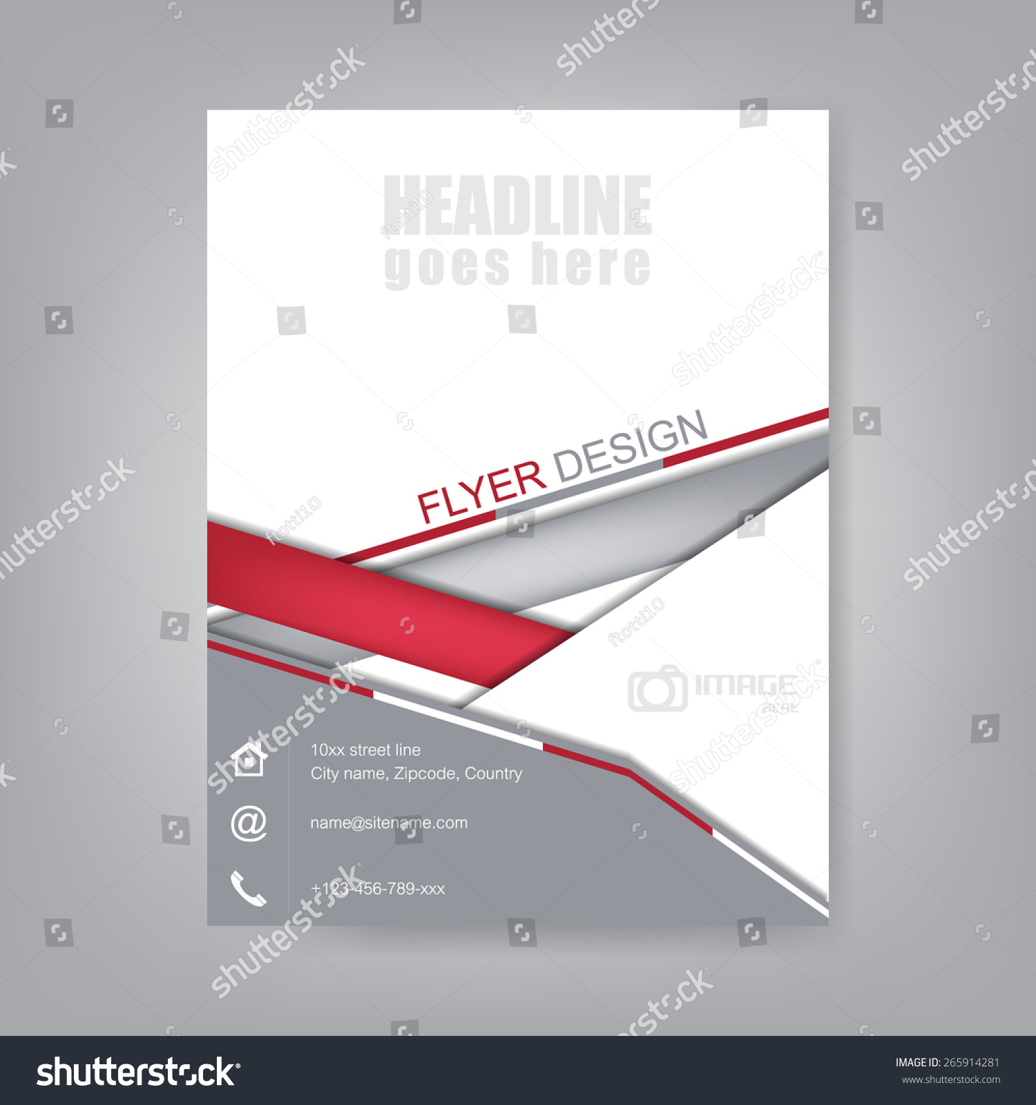 Business Flyer Brochure Template Corporate Bannerdesign Stock Vector ...