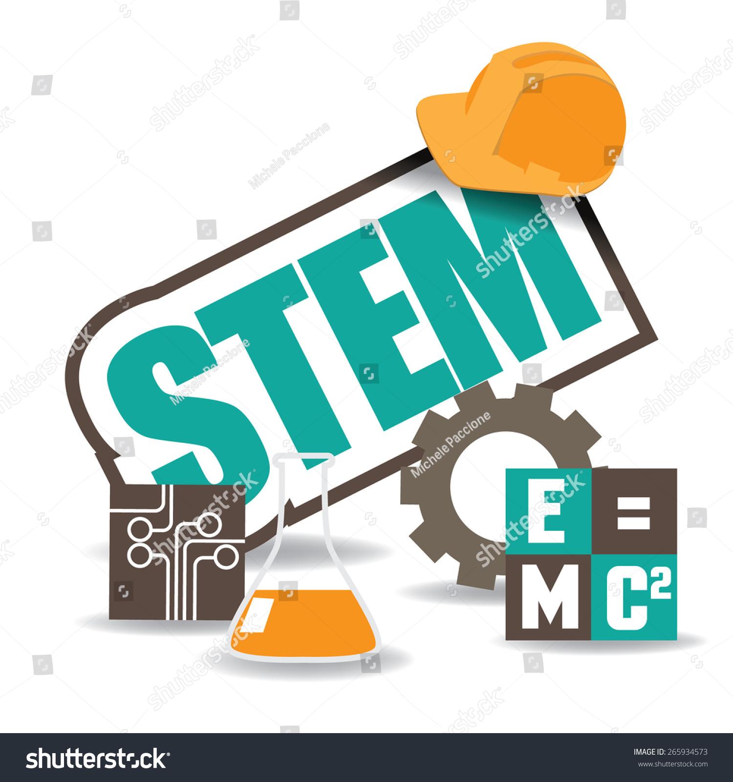 Stem Icon Flat Design Eps10 Vector Stock Vector 265934573