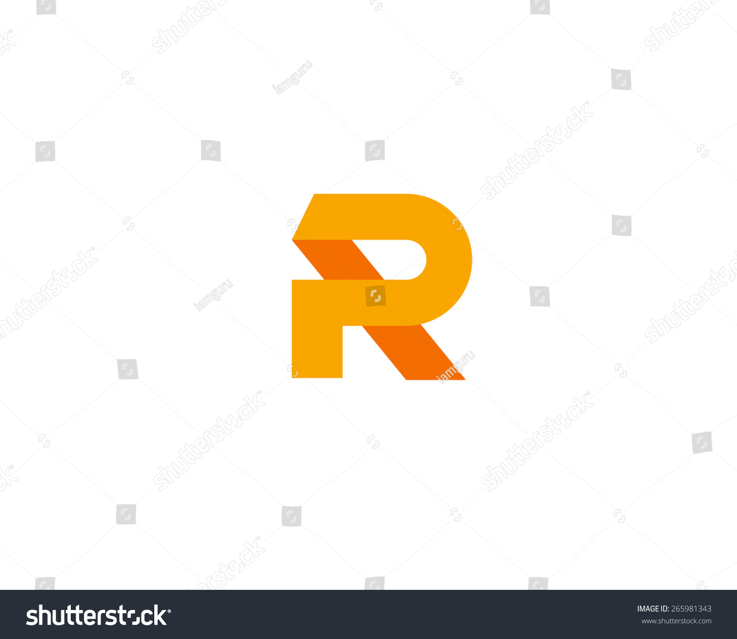 abstract letter r logo design template colorful creative sign universal vector icon