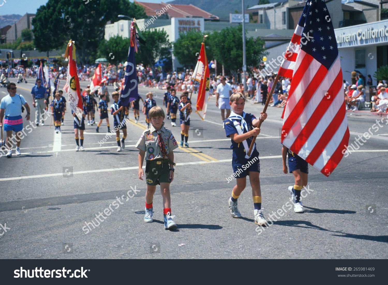 Boy Scout Troop Color Guard Leading Stock Photo (Edit Now