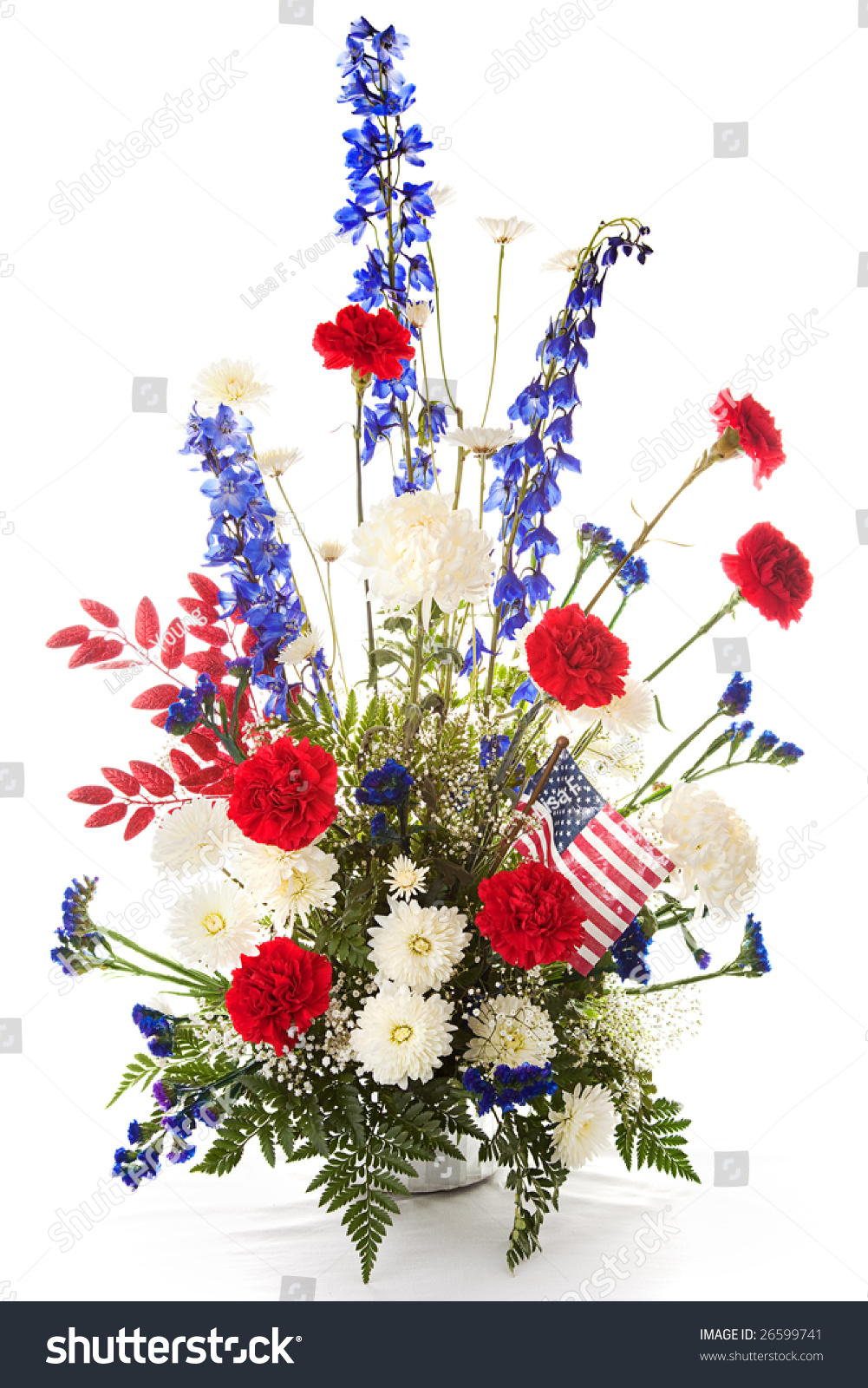 Flower Arrangement Red White Blue Celebrate Stock Photo Edit Now