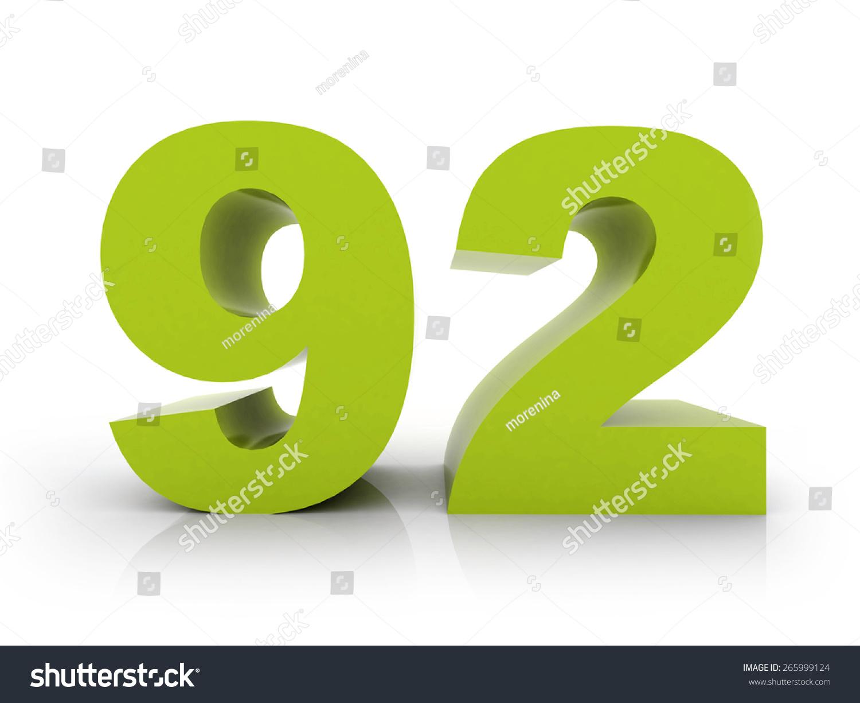 Number 92 Stock Photo 265999124   Shutterstock