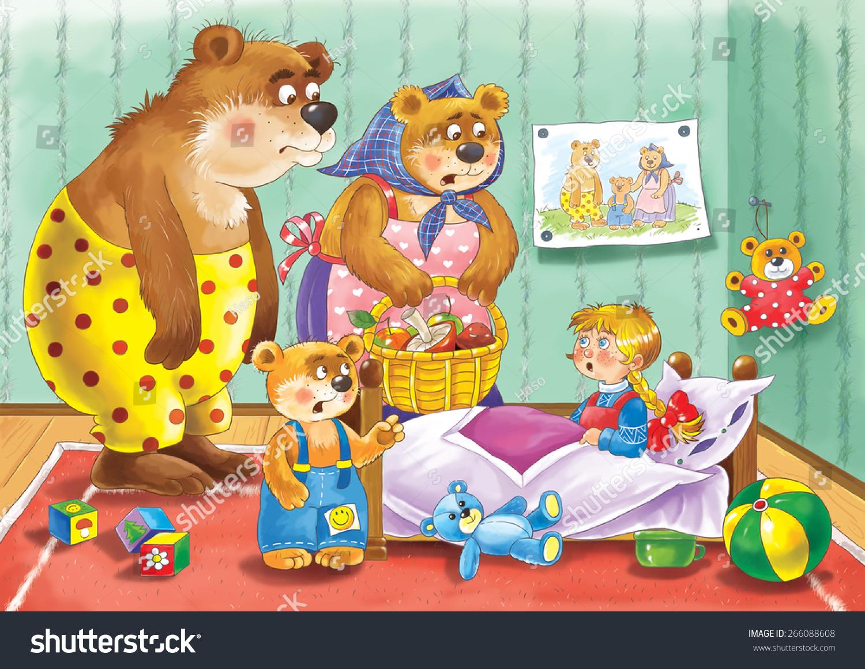 Uncategorized Three Little Bear three bears russian fairy tale father stock illustration 266088608 the a bear mother baby