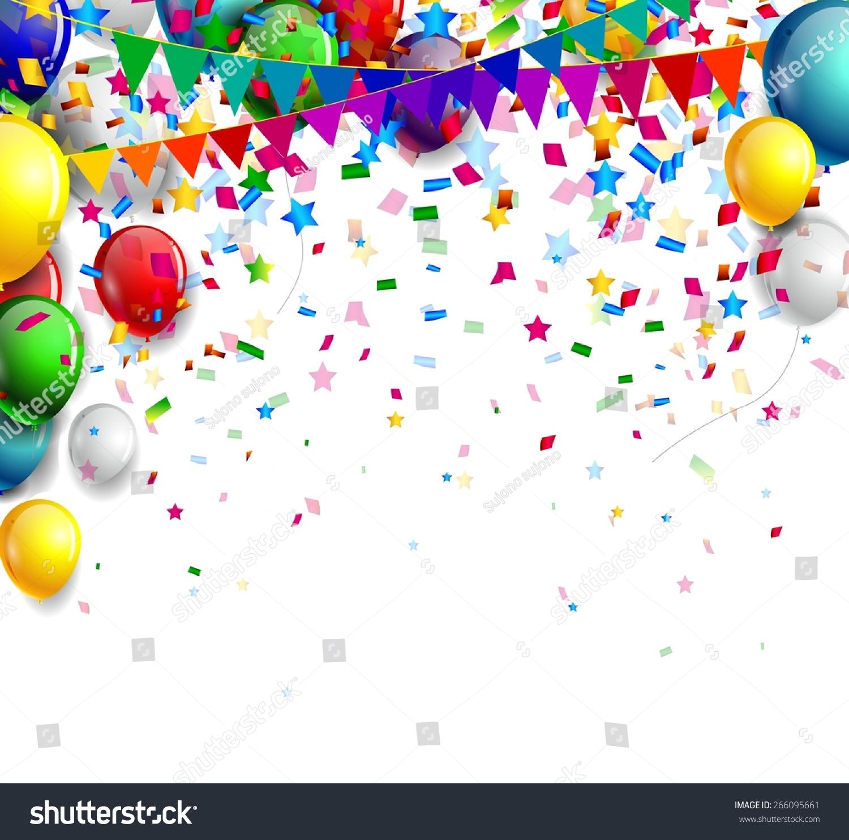 birthday background balloon stock vector royalty free 266095661