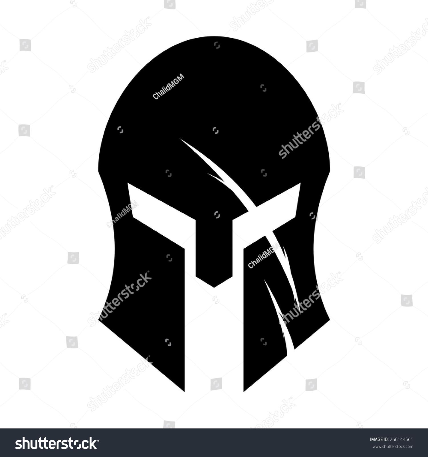 Black Spartan Head spa...