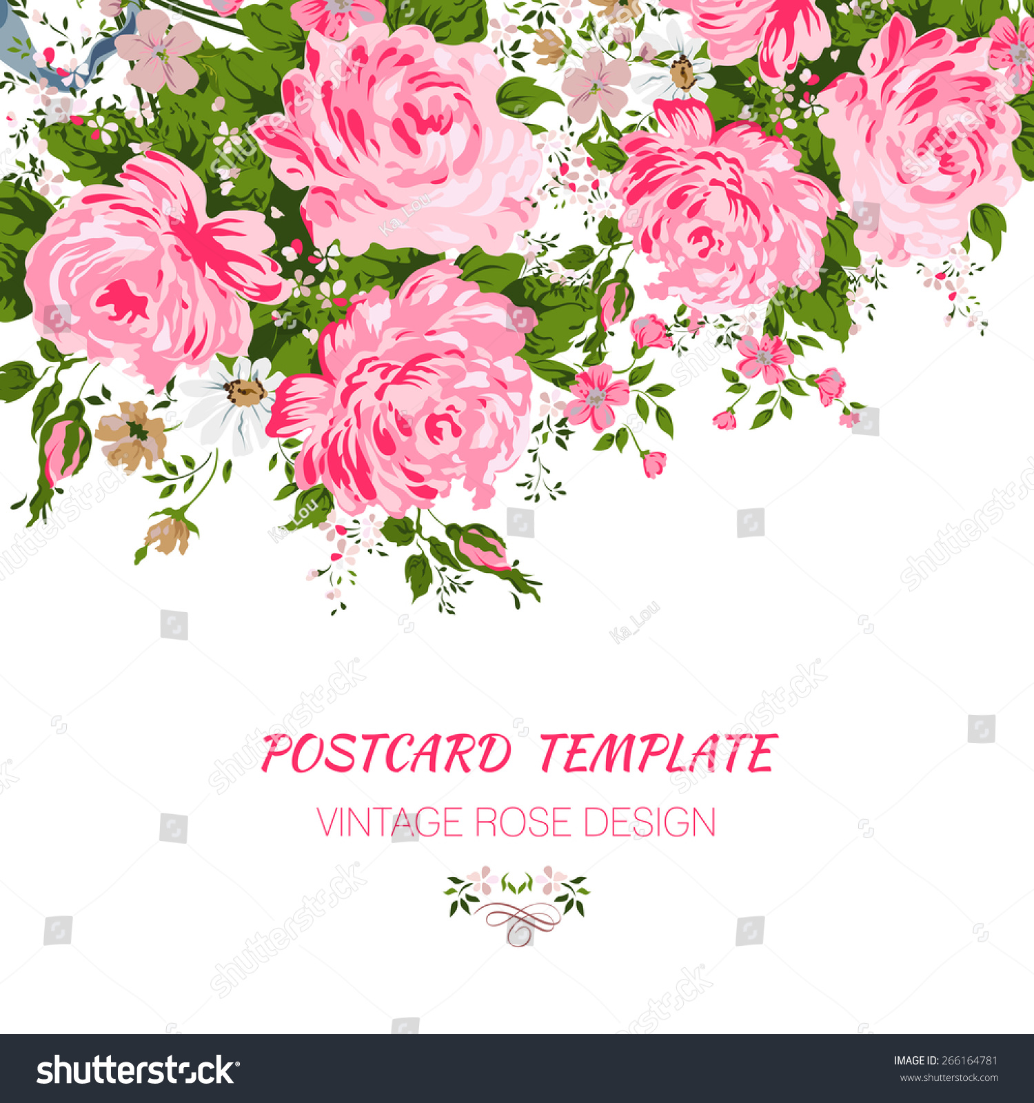 Wedding Card Invitation Abstract Floral Background Stock Vector