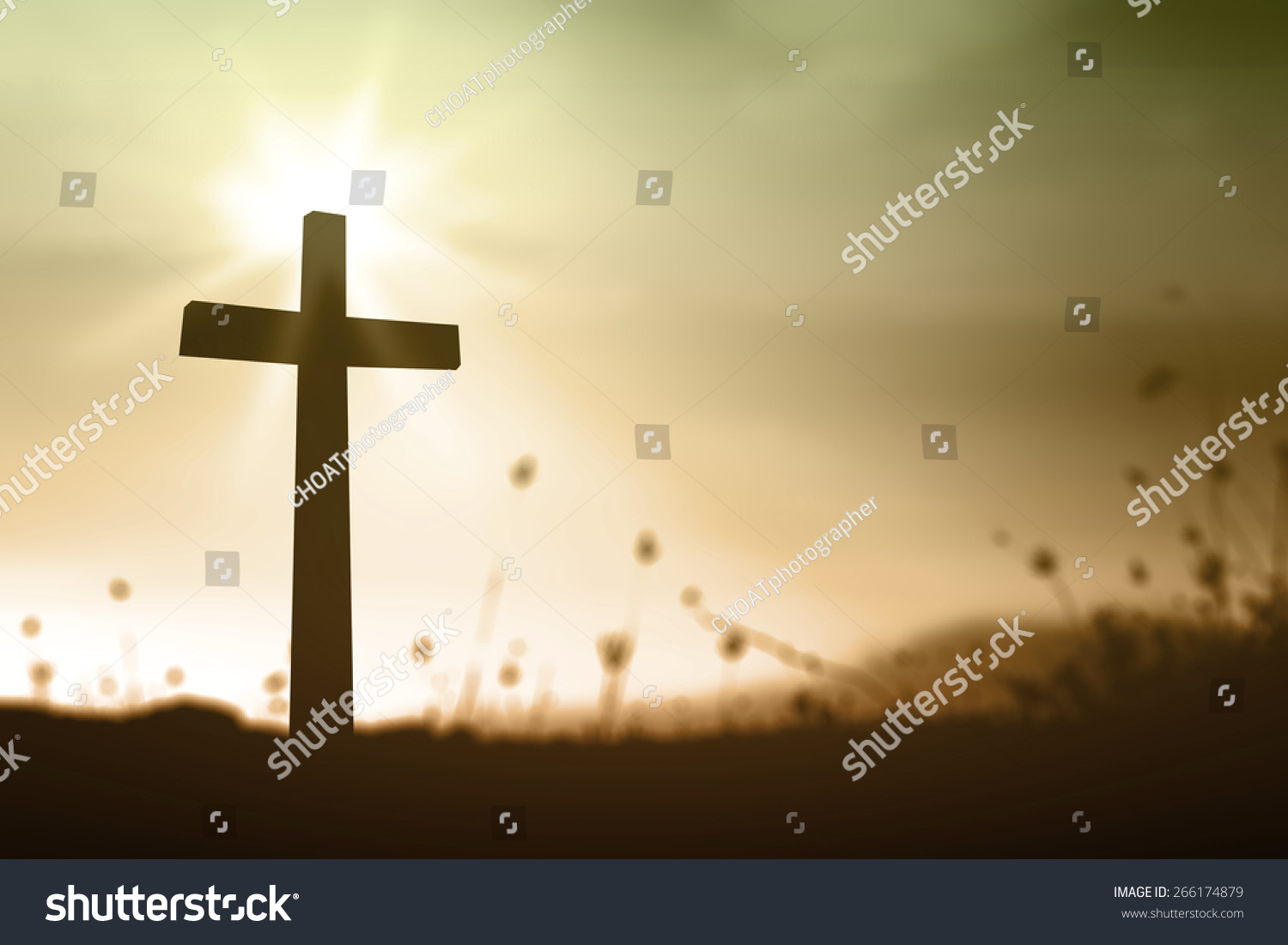 Holy cross on spiritual light background stock photo 266174879 holy cross on spiritual light background symbol for jesus christ resurrection and salvation buycottarizona Images