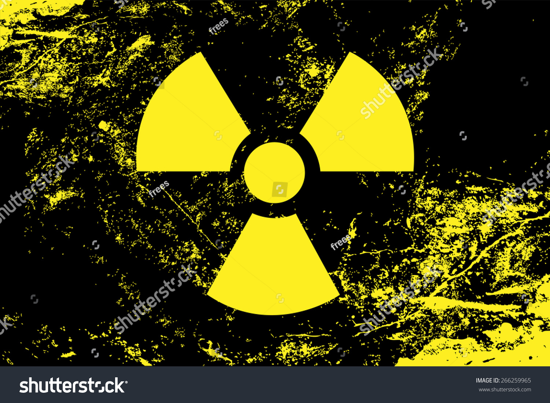 Radioactive Symbol Radiation Nuclear Atomic Energy Stock