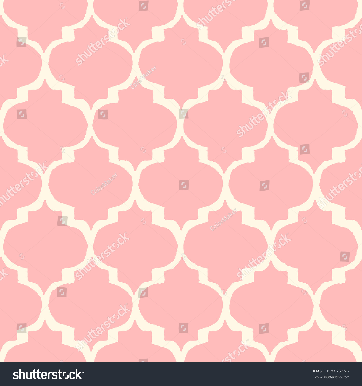 Moroccan style tiles inspired seamless pattern stock for Moroccan style wallpaper