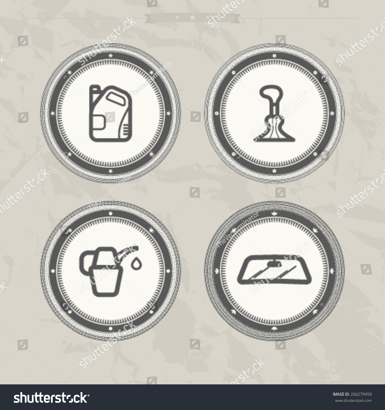 Car Parts Accessories Left Right motor Stock Vector 266279459 ...