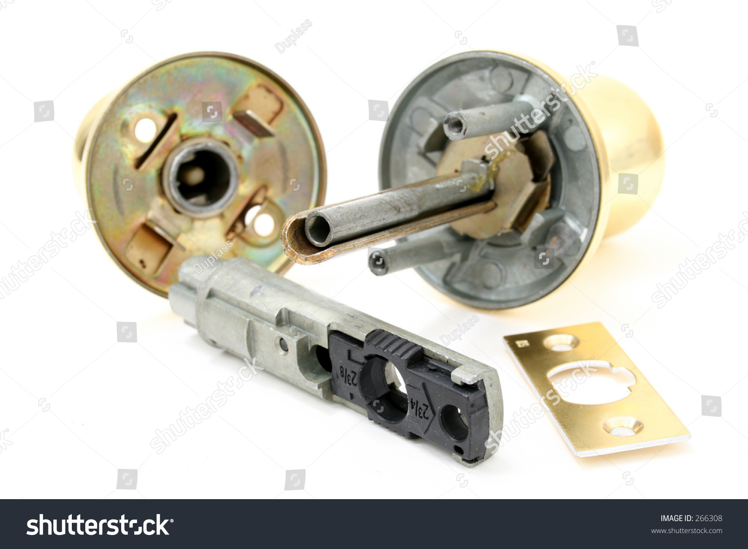 Parts Door Knob On White Background Stock Photo 266308 - Shutterstock