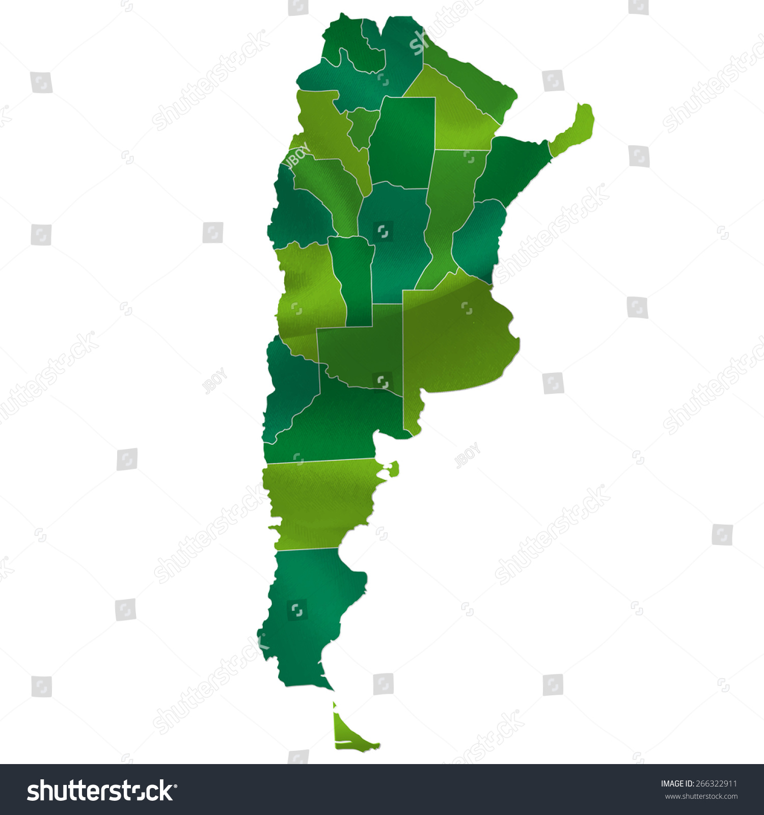Argentina Map Country Stock Vector Shutterstock - Argentina map of country