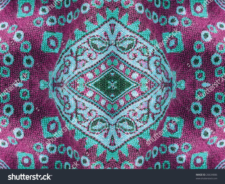Beautiful Arab Arabic Arabian Arabesque Fabric Stock Photo
