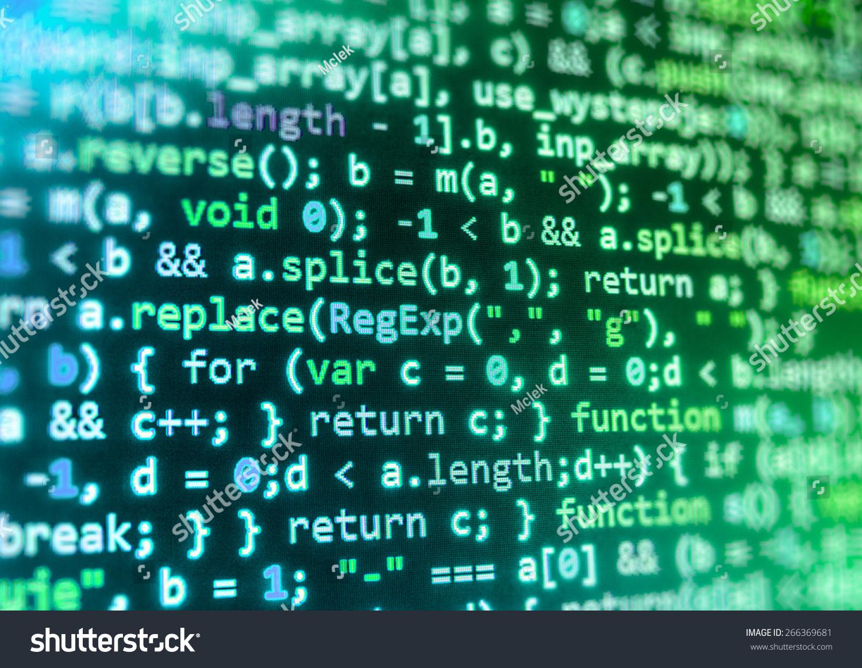 Coding Application Developer Programmer Developer Screen Stock Photo ...