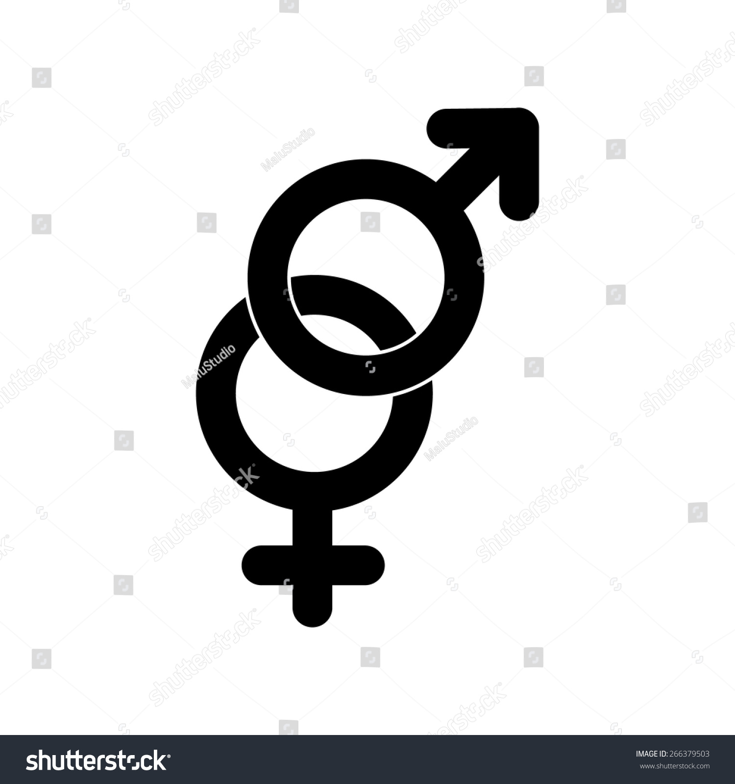 Male Female Symbols Stock Vector Royalty Free 266379503 Shutterstock