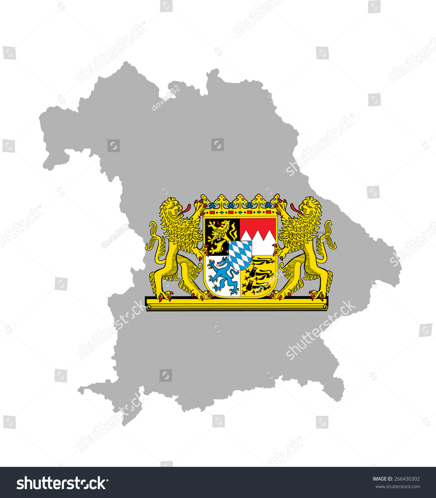 Great coat arms bavaria germany isolated stock vector 266430302 great coat of arms of bavaria germany isolated vector in official colors and proportion gumiabroncs Gallery