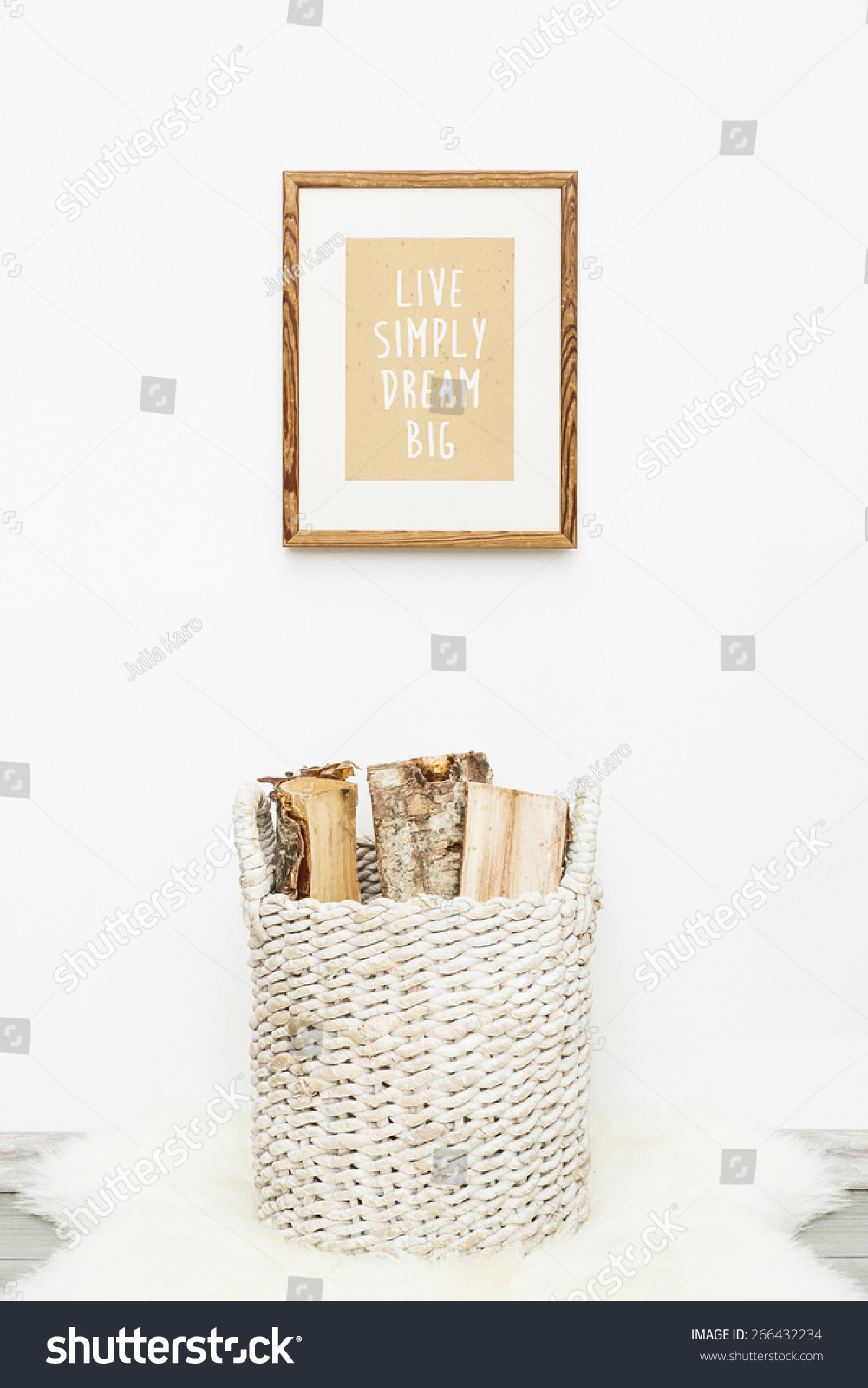 Wooden Frame LIVE SIMPLY DREAM BIG Stock Photo (Royalty Free ...