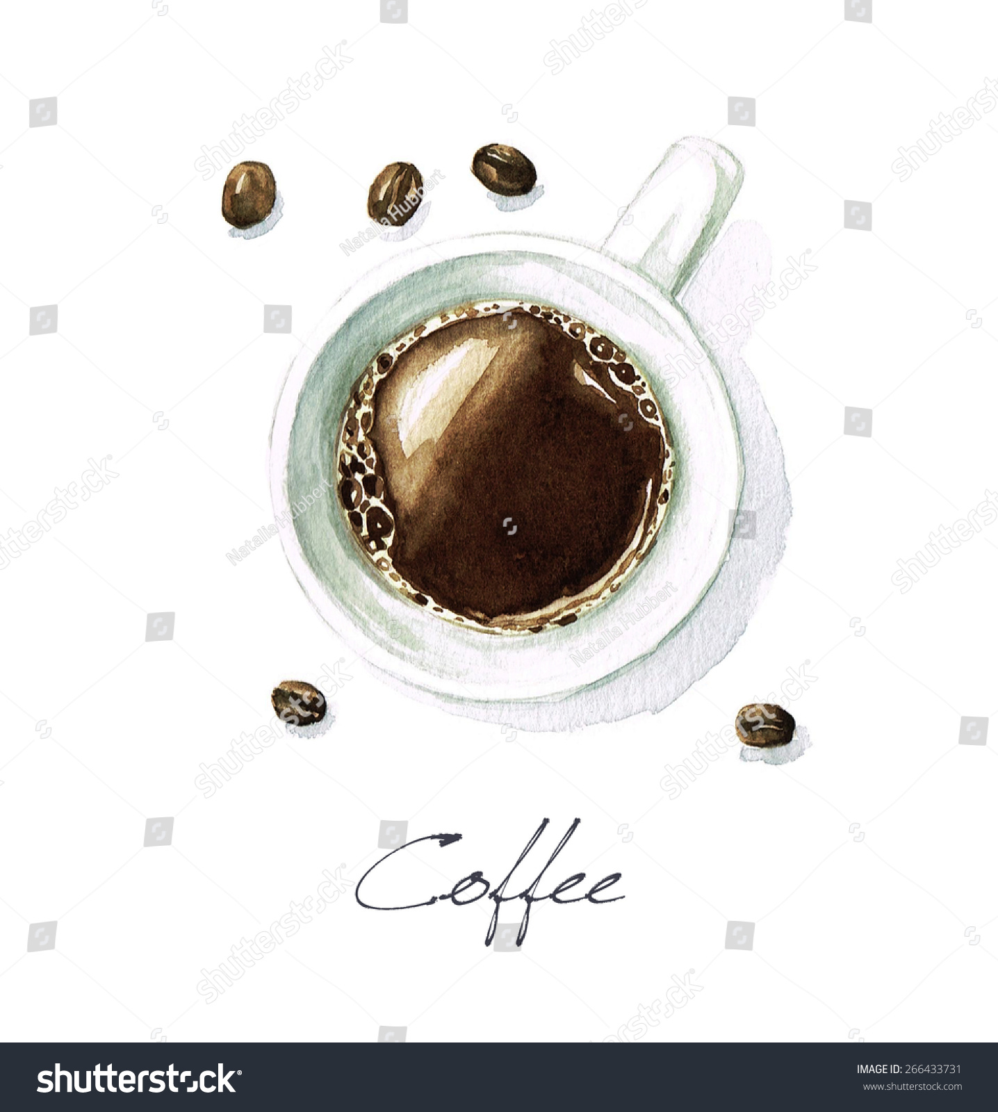 Coffee watercolor food collection stock illustration for Coffee watercolor
