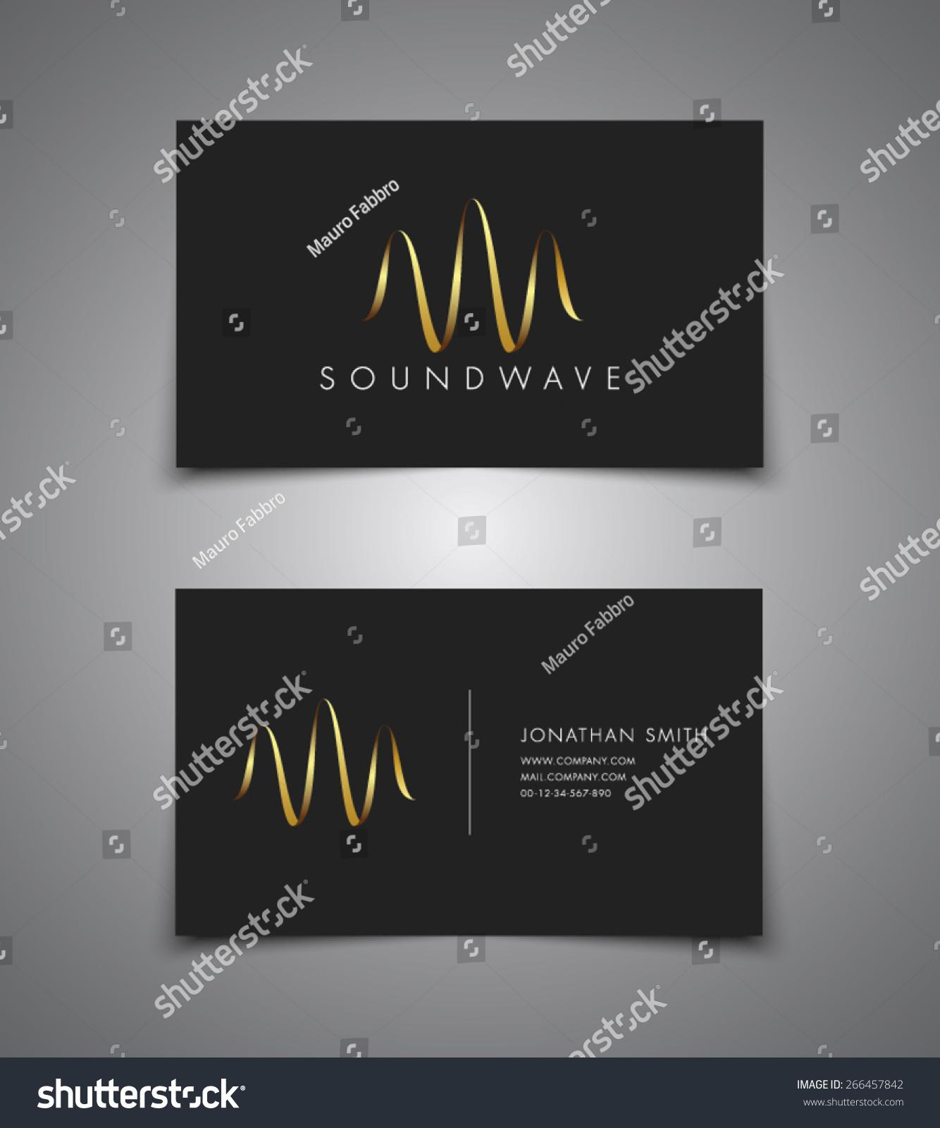 Business Card Sound Wave Music Dj Stock Vector 266457842 - Shutterstock