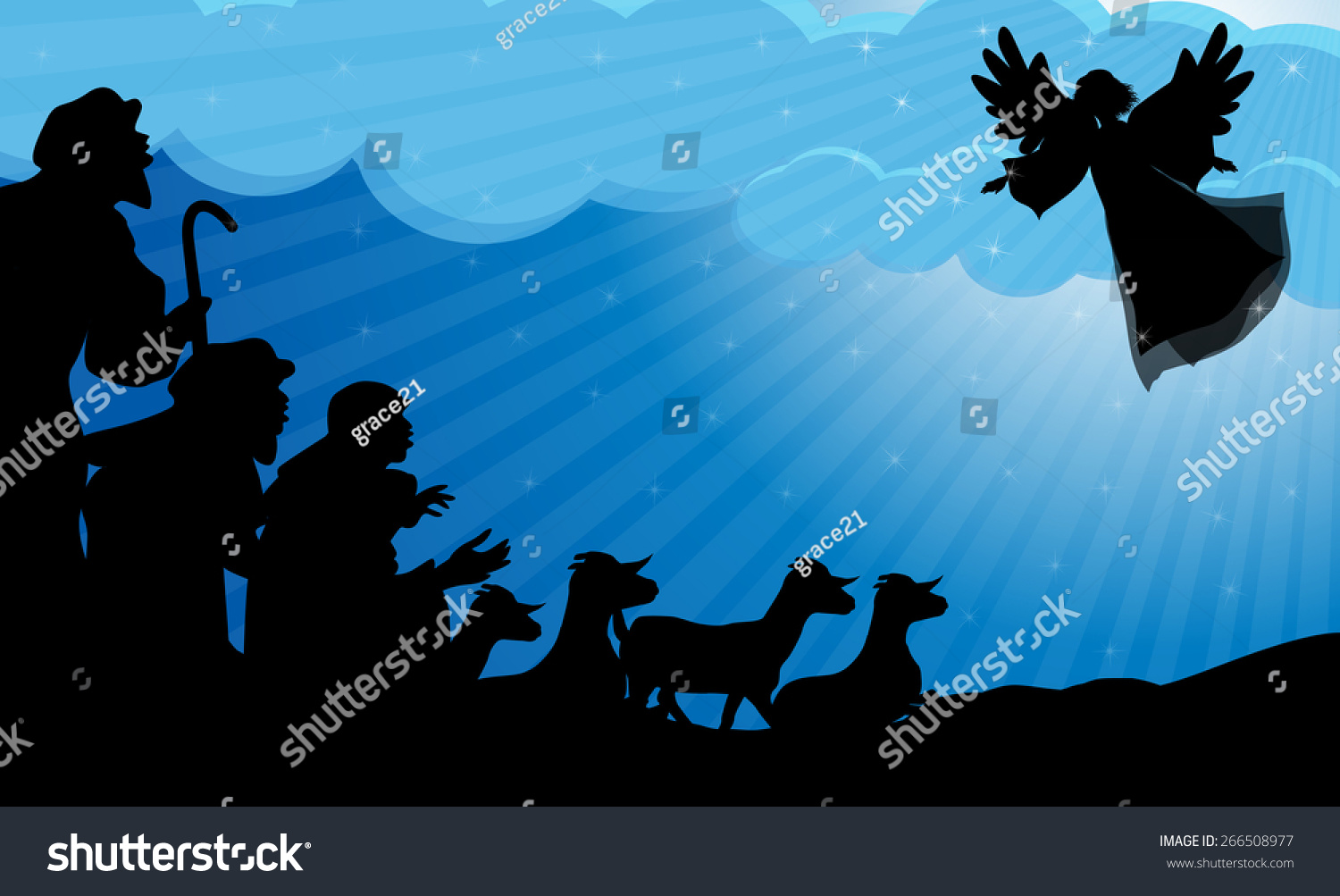 Angel Announced Shepherds Birth Jesus Vector 266508977 – Who Announced the Birth of Jesus