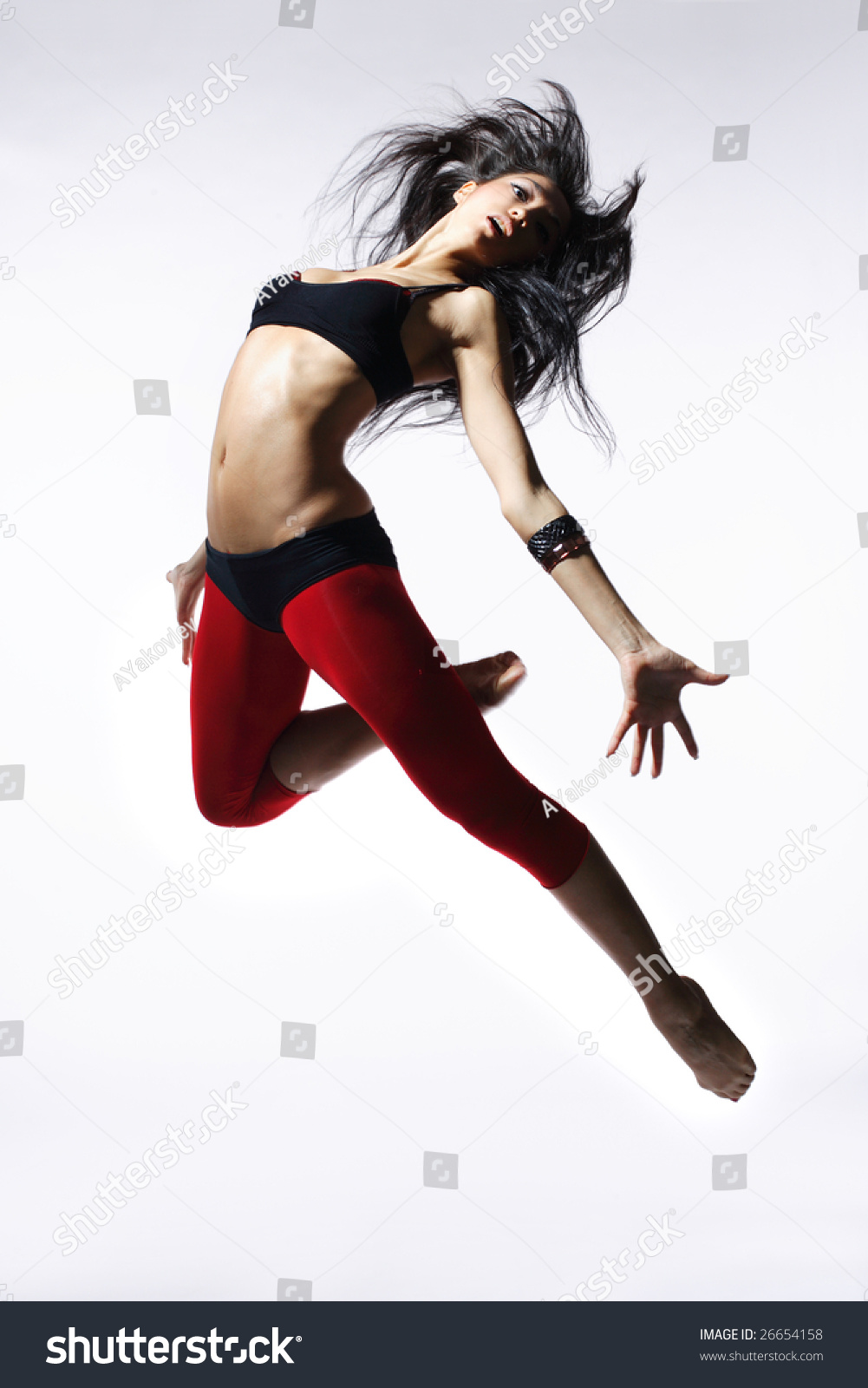 Stylish And Young Modern Style Dancer Is Posing Stock ...