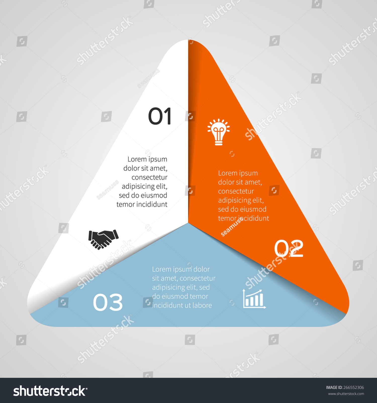 Vector Circle Triangle Infographic Template Cycle Stock Space Shuttle Diagrams For Diagram Graph Presentation And Round Chart