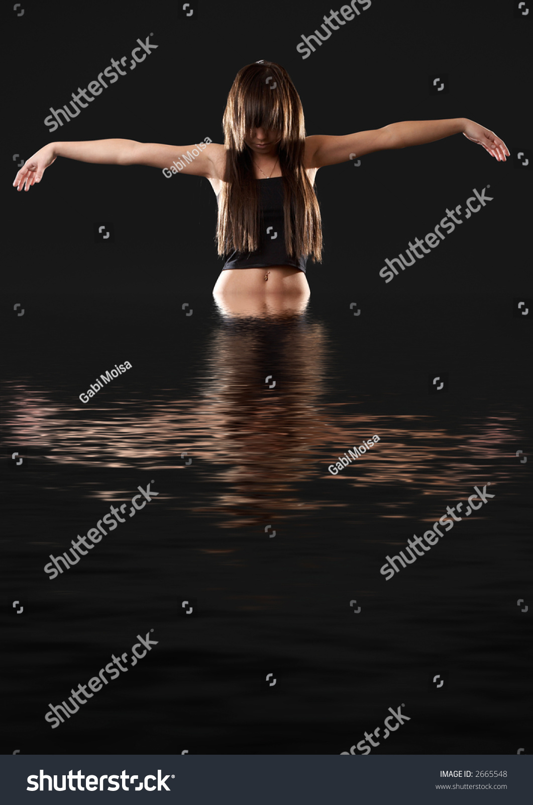 Emerging from water