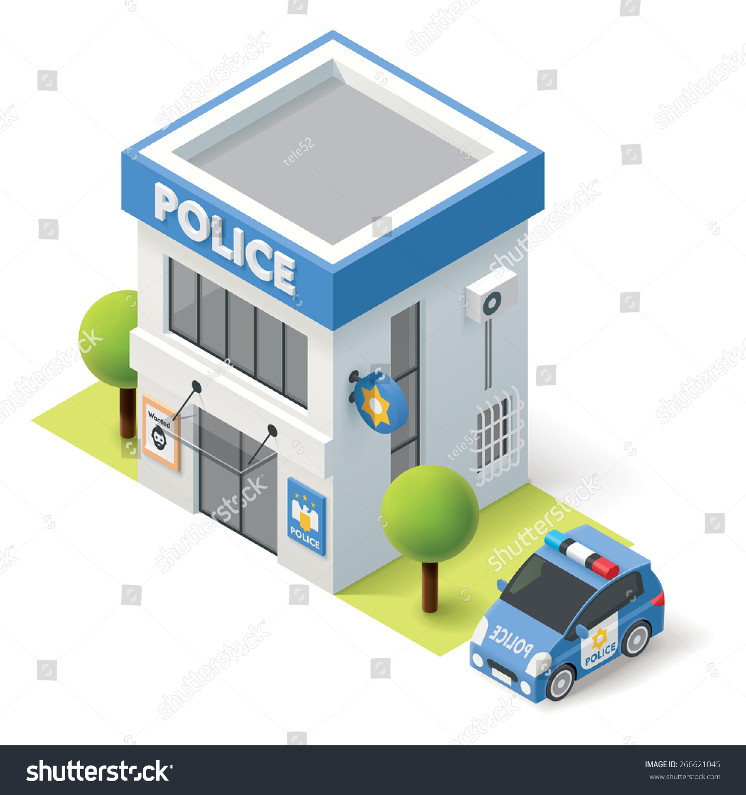 Police Station Building Clipart police station stock vectors & vector ...