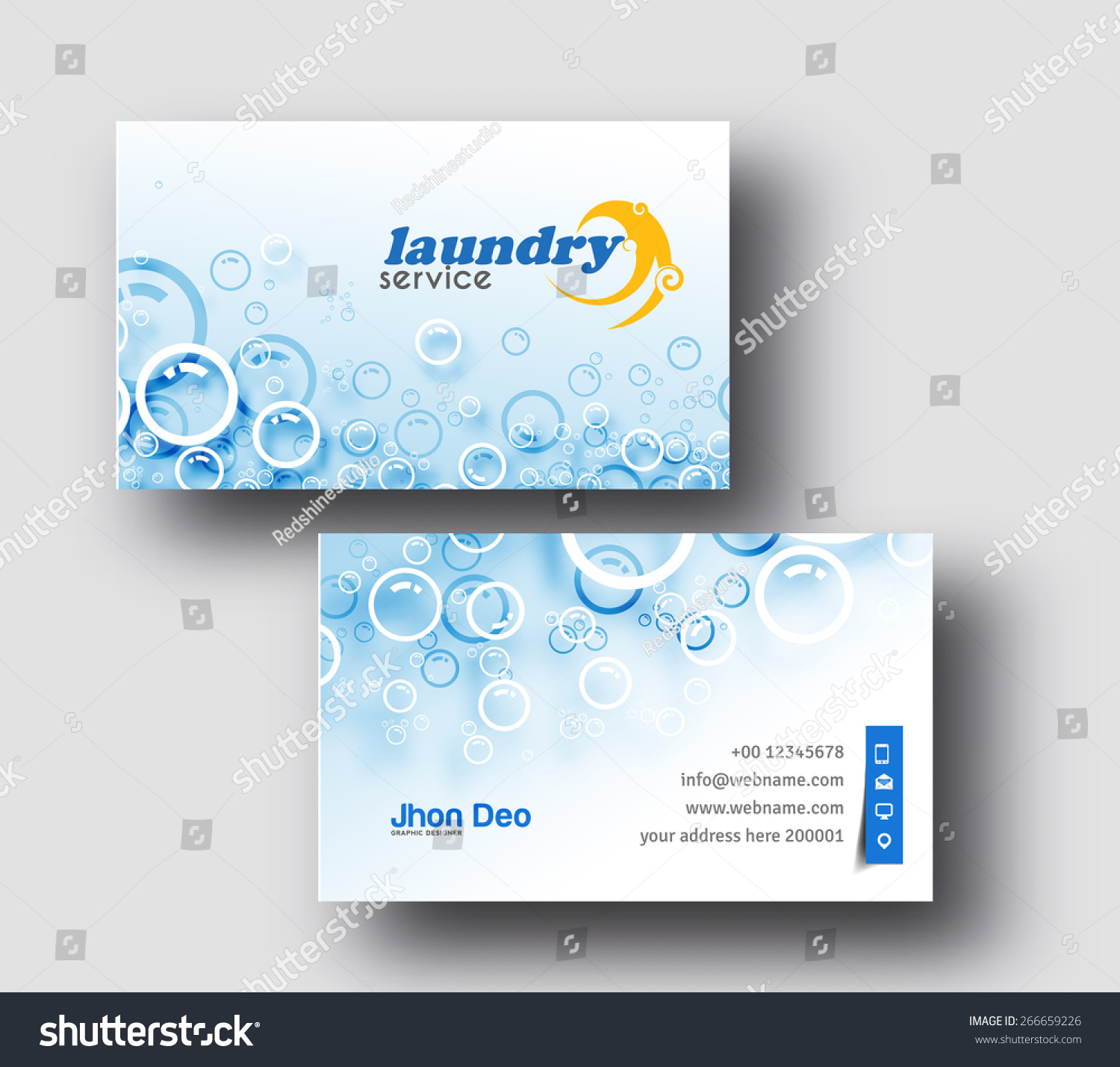 Laundry service business card vector template em vetor stock laundry service business card vector template reheart Images