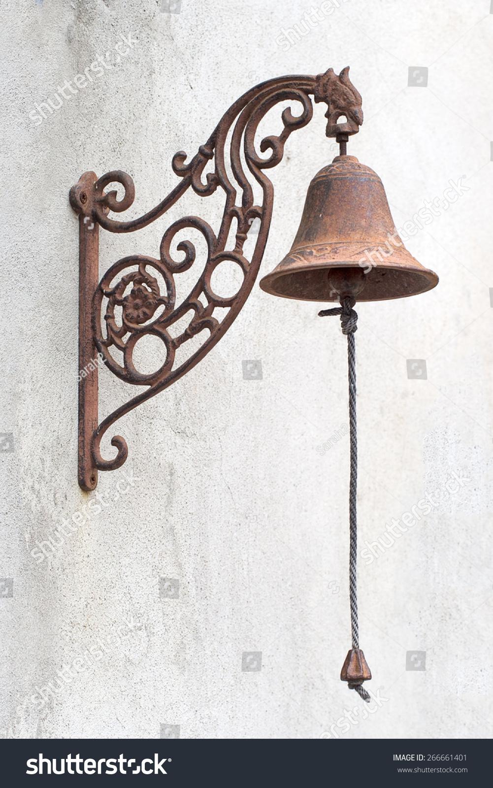 Antique Door Bell With Chain.