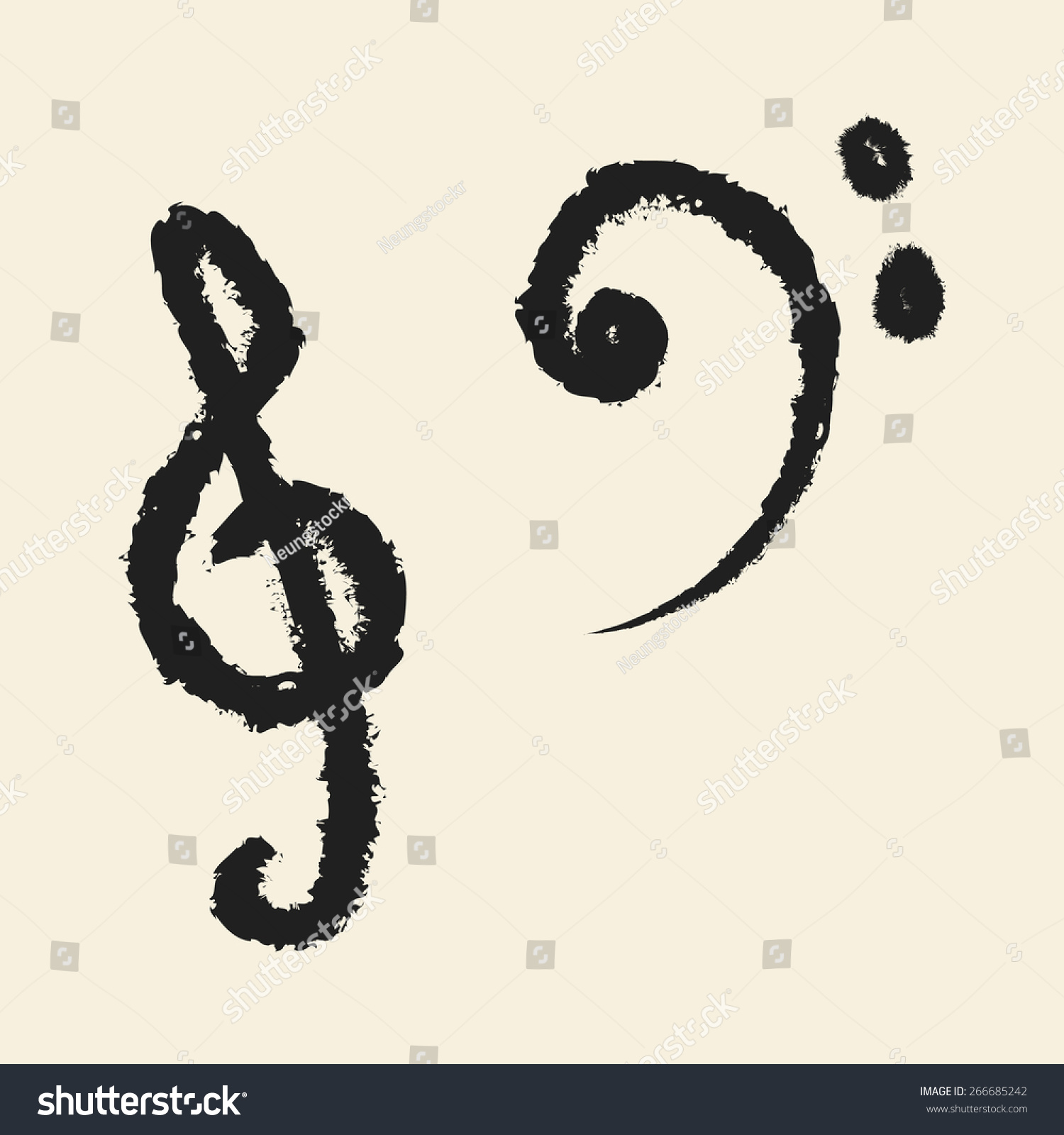 Doodle Drawing Music Note Stock Vector Royalty Free 266685242