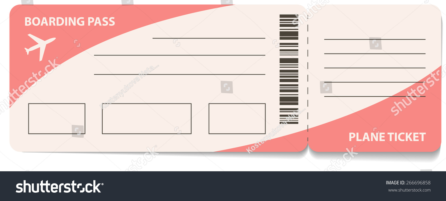 Awesome Air Ticket Template Download For Fake Plane Ticket Template