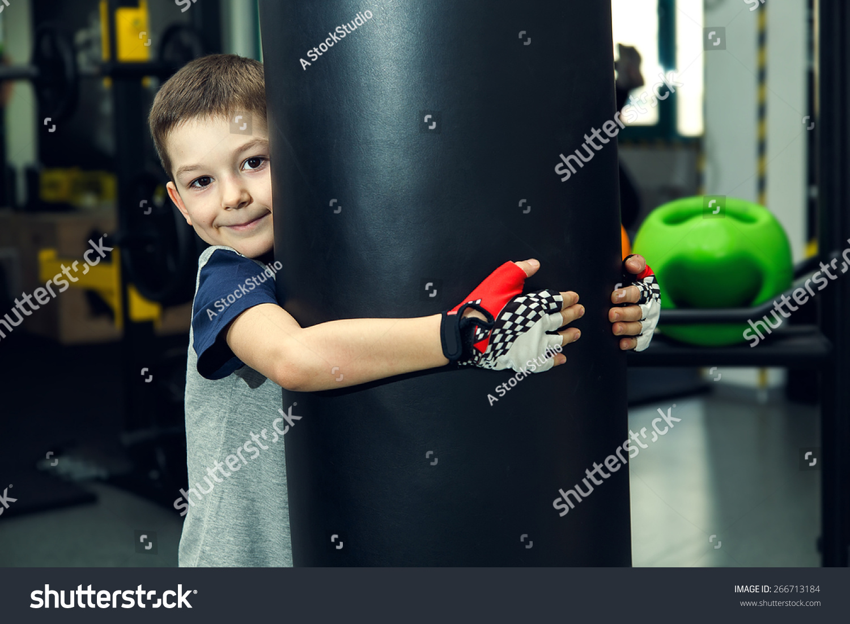 Boy Box Fitness Sport Young Boy Stock Photo (Edit Now) 266713184 ... 09245cf928