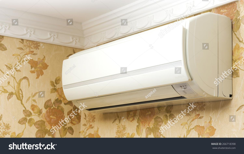 indoor unit air conditioner home interior stock photo 266718398