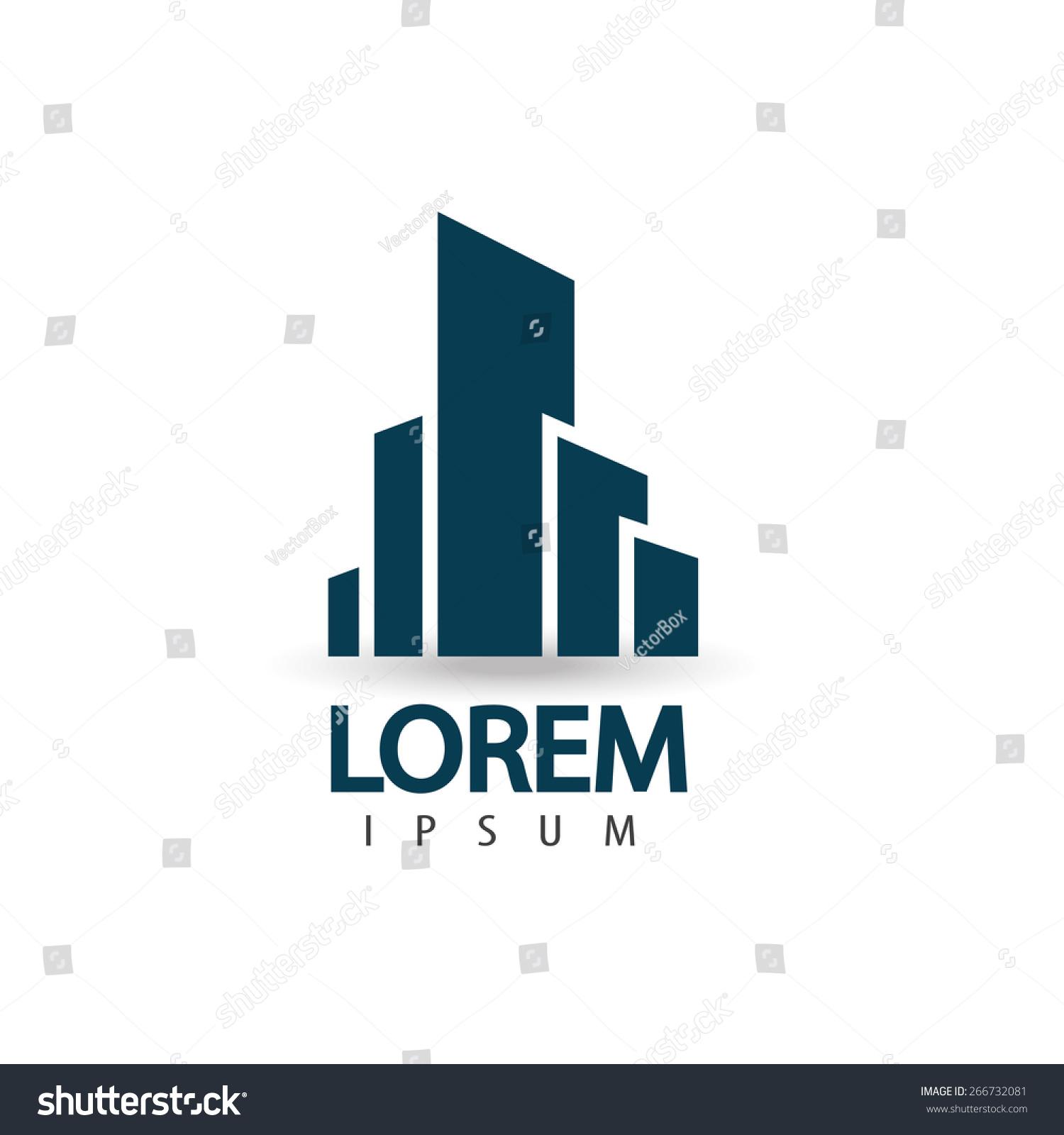 creative architecture logo design trendy business concept