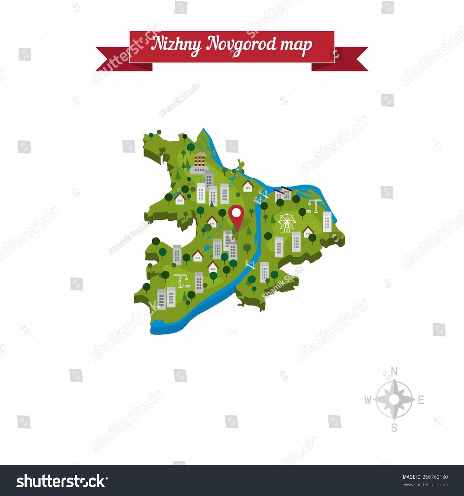 Street map Novgorod Russia