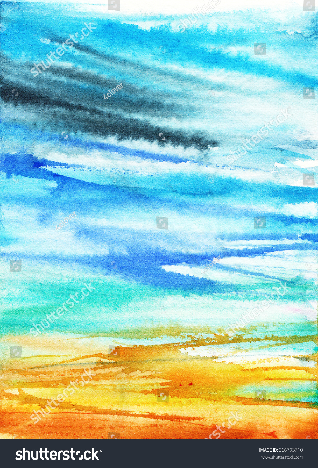 Stain, Lines, Blur, Gradient/ Summer Abstract Background
