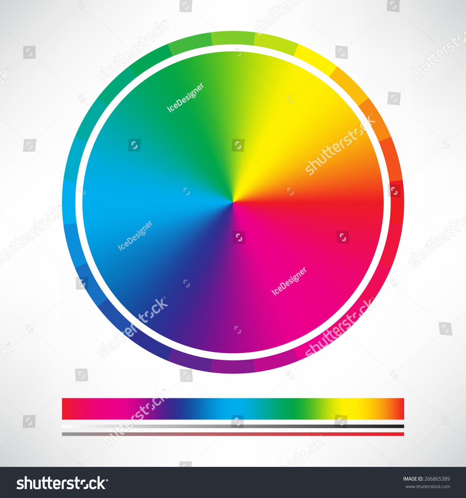 Color chart circle vector stock vector 266865389 shutterstock color chart circle vector nvjuhfo Images