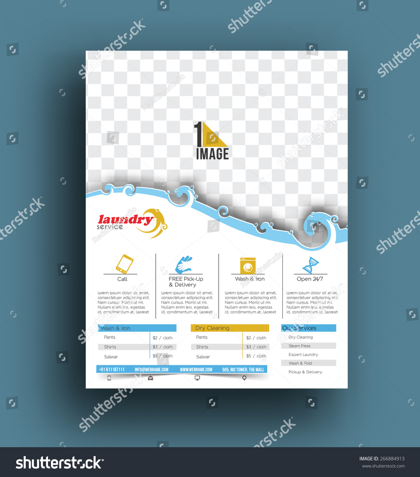 Laundry service flyer poster template stock vector 266884913 laundry service flyer poster template pronofoot35fo Image collections