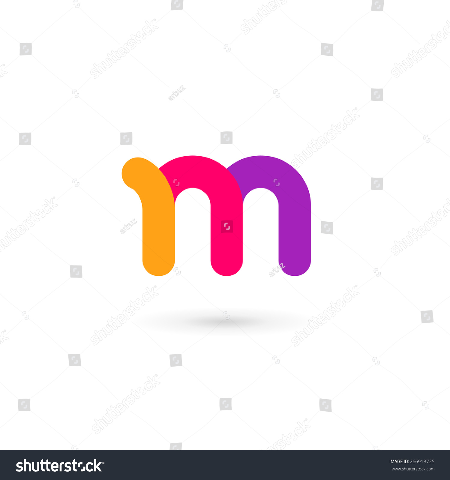 Letter M Logo Icon Design Template Stock Vector 266913725
