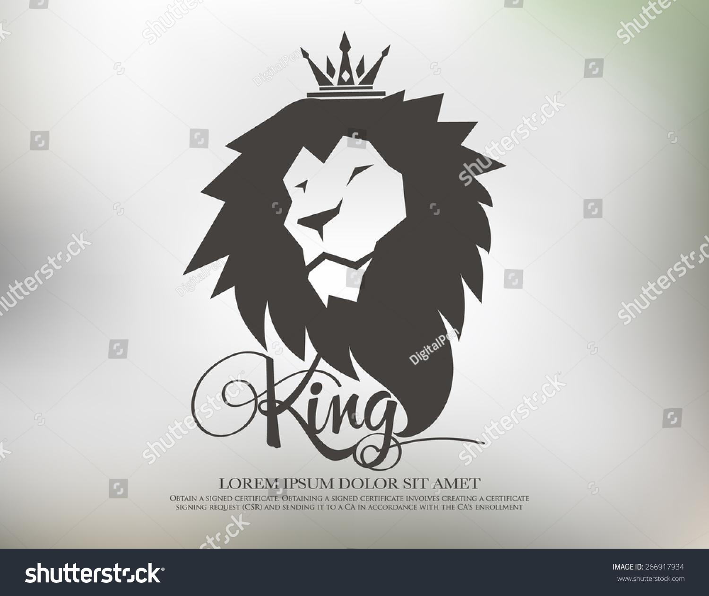 Lion Symbol Logo Icon Design Template Stock-vektorgrafik 266917934 ...