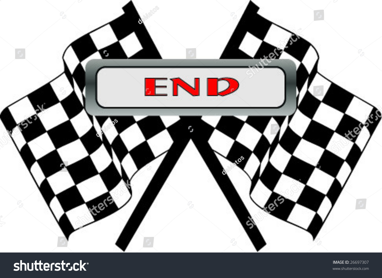 End Flag Illustration Stock Vector 26697307 - Shutterstock