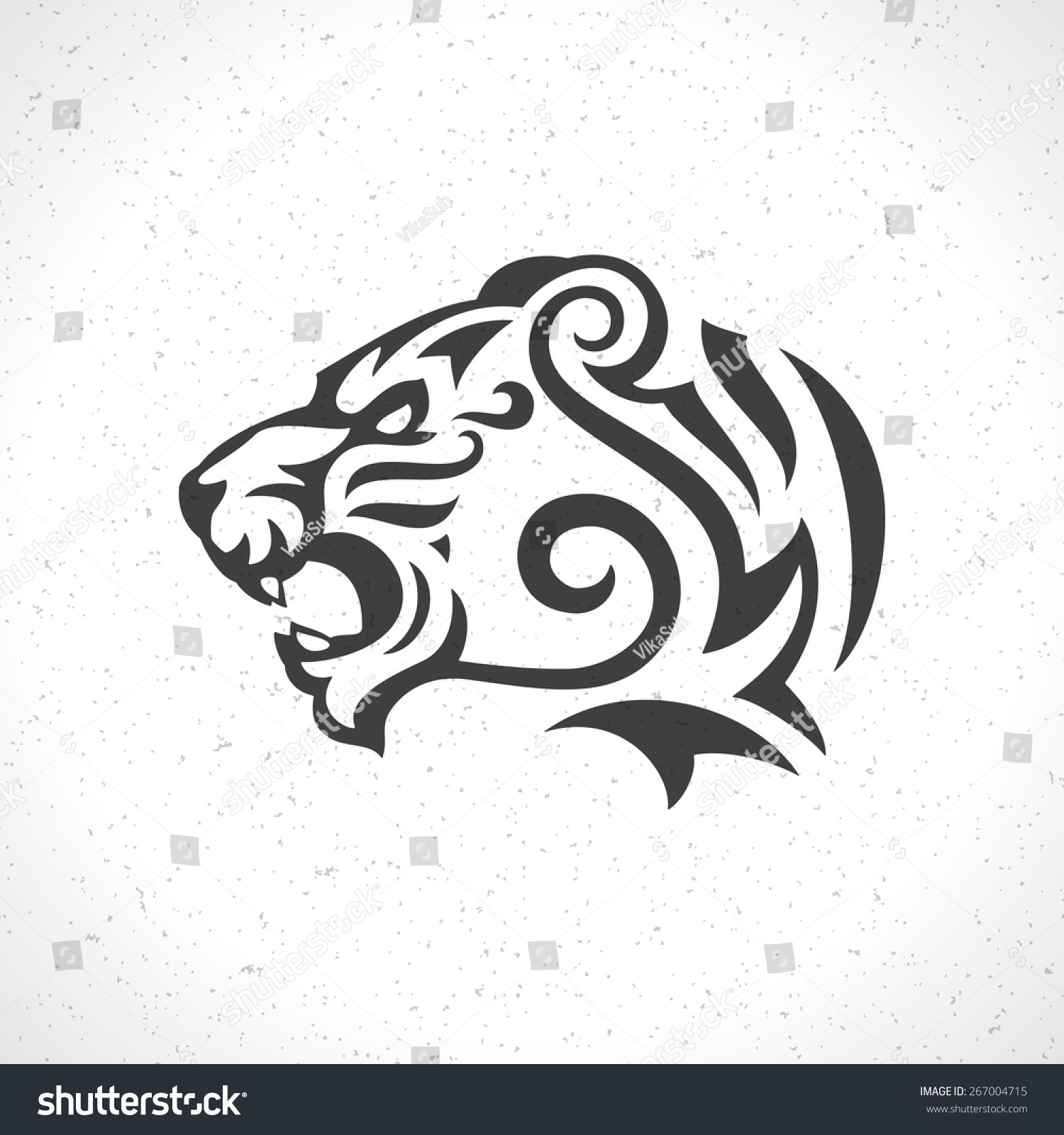 Tiger head logo design - photo#8