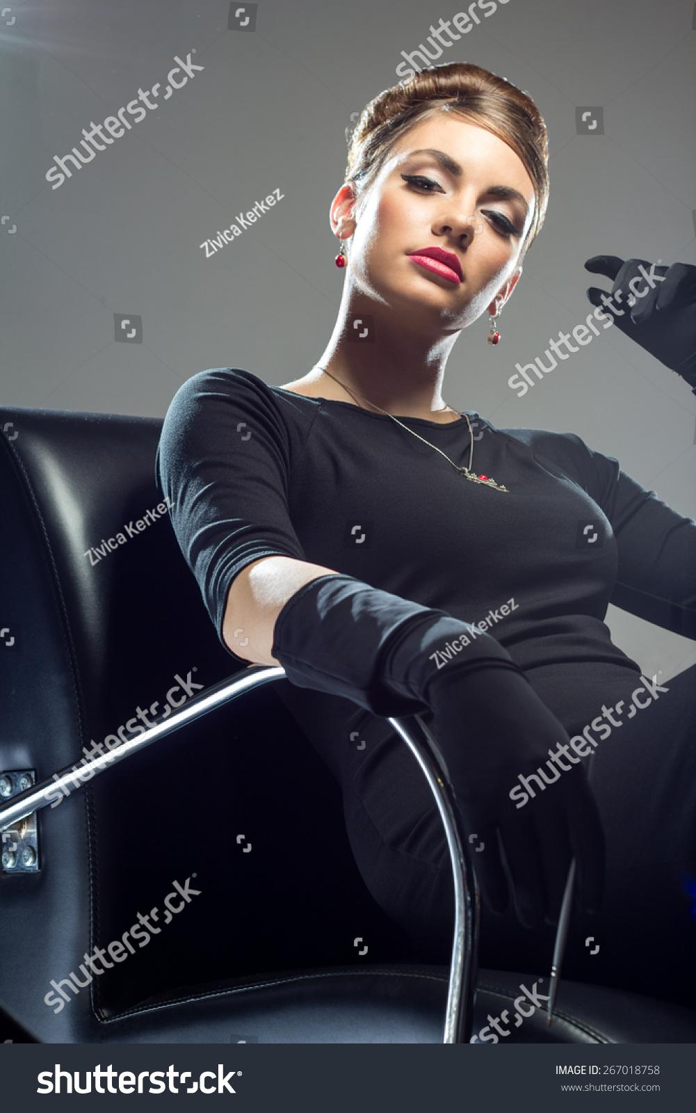 Black dress gloves - Long Dress Gloves Black Beauty