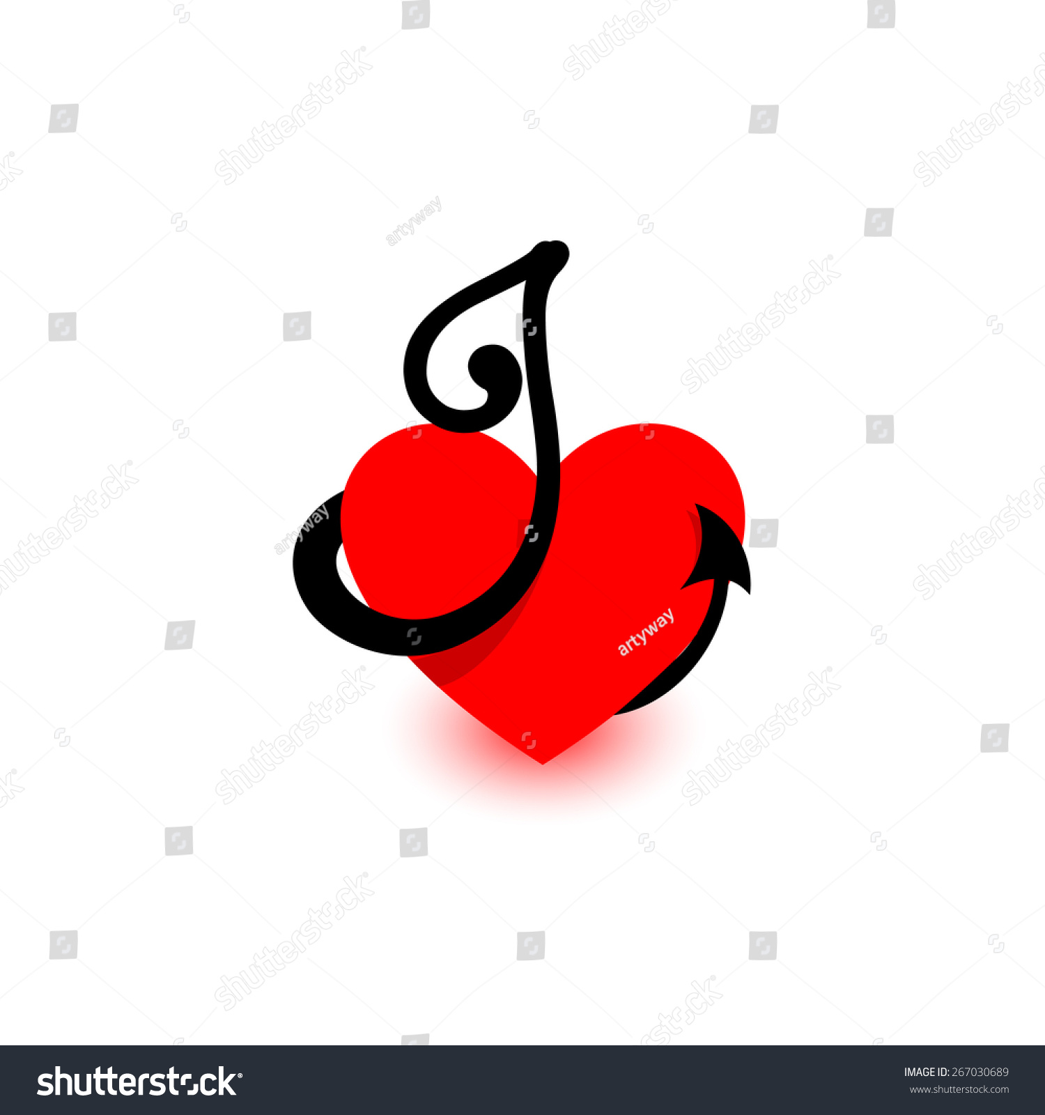 Heart Letter J Beautiful Vector Love Stock Vector Royalty Free