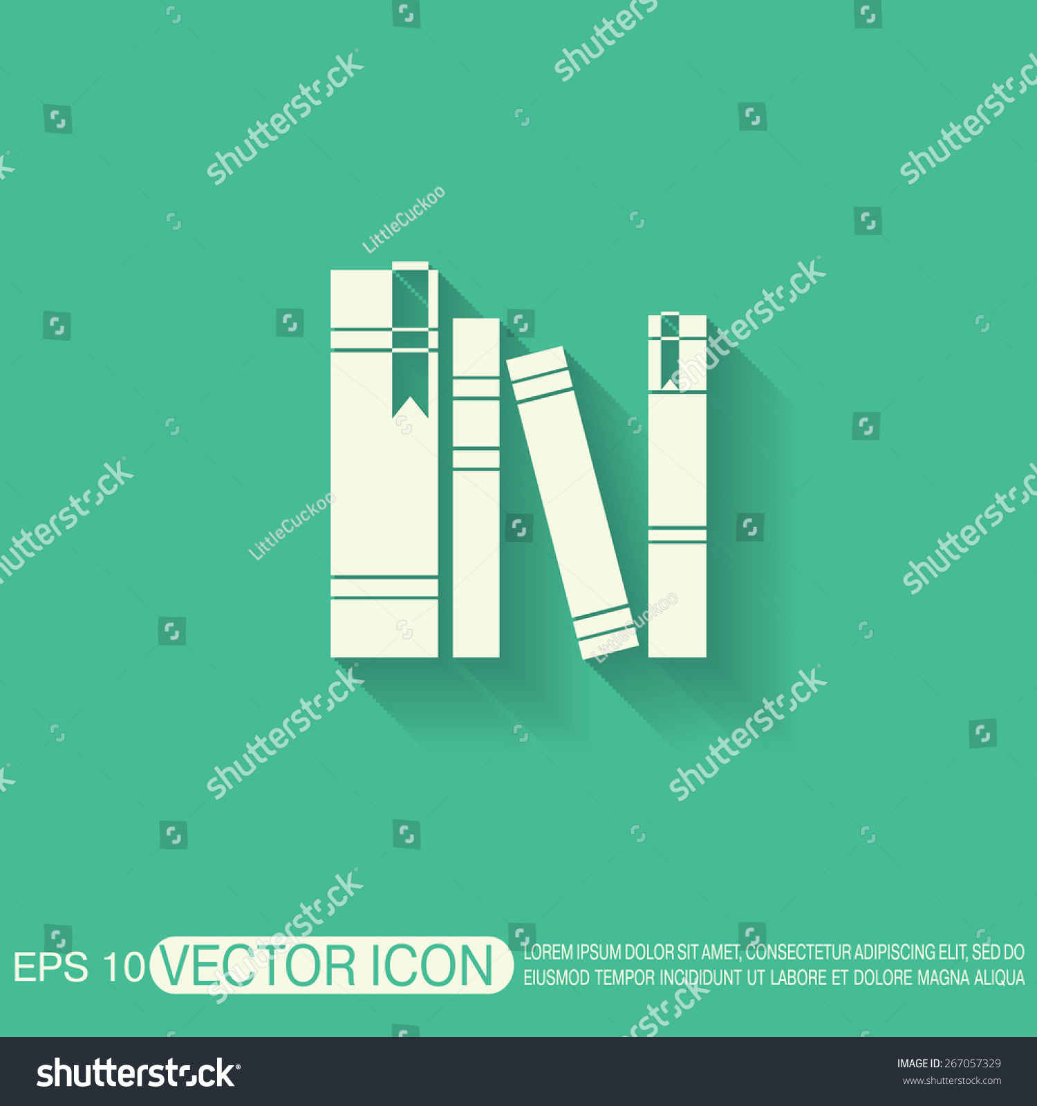 a symbol in literature book spine spines books icon symbol stock vector